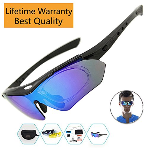 Cycling Sunglasses Polarized Sports Glasses For Men Women Running Driving Fishing Golf Baseball With 5 Interchangeable Lens Sports Outdoor Uv400 Protection Tr90 Unbreakable - For Men Sunglasses Flipkart