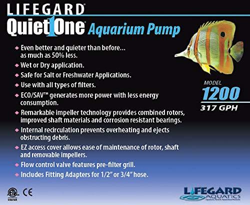 Aquarium pump quiet one