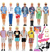 EuTengHao 44Pcs Doll Clothes and Accessories for 12 Inch Boy Dolls Include 27 Different Shirt Jea...
