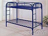ACME Furniture 02188BU Thomas Bunk Bed, Twin, Blue