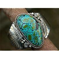 piyada Natural Turquoise 925 Silver Women Man Jewelry Wedding Engagement Ring Sz 6-10 (8)