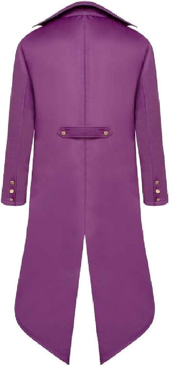 ONTBYB Men Vintage Gothic Tailcoat Jacket Steampunk Victorian Halloween Coat