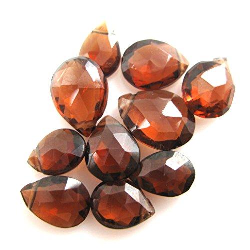 Semi Precious Gemstone Beads- Pear Shaped -Grade B Genuine Garnet Faceted Gemstone Briolettes- 7mm ( 10 Pcs) (Garnet Briolette)