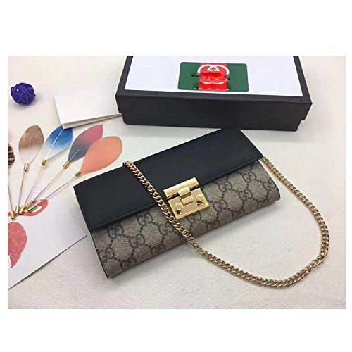 (Padlock handbag for Womens Handbag Designer Fashion Single Shoulder Messager Bags -khaki black)