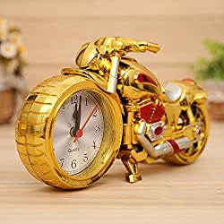 Clocks Desk Family Decoration Alarm Clock Classic Motorcycle Mute Snooze Mechanical Alarm Clock Desk Bedroom