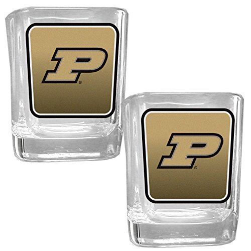 NCAA Purdue Boilermakers Square Glass Shot Glass Set -
