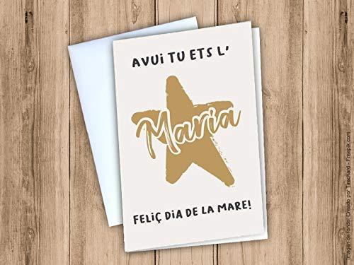 Postal de felicitaci/ó del dia de la mare en catal/à