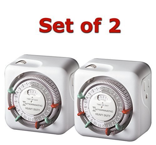 Intermatic TN311 15 Amp Heavy Duty Grounded Timer - 2-Pack by SmileMore