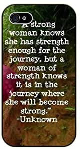 A strong woman knows she has strength enough - Bible verse IPHONE 5C black plastic case / Christian Verses