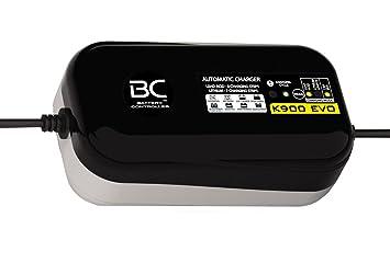 BC K900 EVO 12V 0,9A - Cargador de Batería y Mantenedor Inteligente para Baterías de Plomo/Ácido y Litio con sistema CAN-Bus compatible para motos BMW