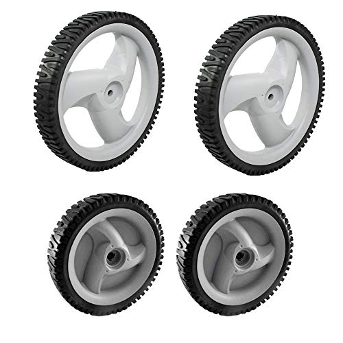 Craftsman 583719501 Lawn Mower Front Drive Wheel and Craftsman 431880X460 Lawn Mower Rear Wheel Bundle