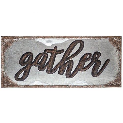 Galvanized Gather Metal Sign