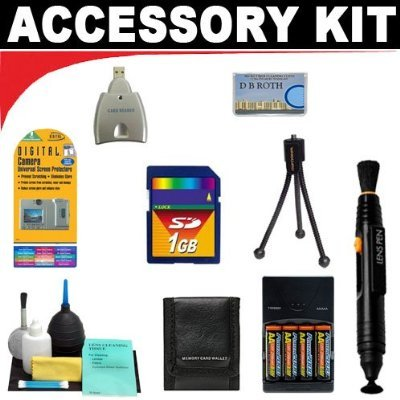 Digital Camera 1gb Deluxe Accessory (1GB Deluxe DB ROTH Accessory KitFor The Aiptek IS-DV2, IS-DV2+ Camcorders)