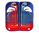 WORKPRO Hex Keys 18 PC, Allen Keys Long Arm Metric Imperial Combined Hexagon Keys Set, Allen Wrenches with Carry Case, 1.5-10 mm, 1/16-3/8 Inch