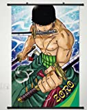 Home Decor One Piece Roronoa Zoro Cosplay Wall Scroll Poster 23.6 X 35.4 Inches-189