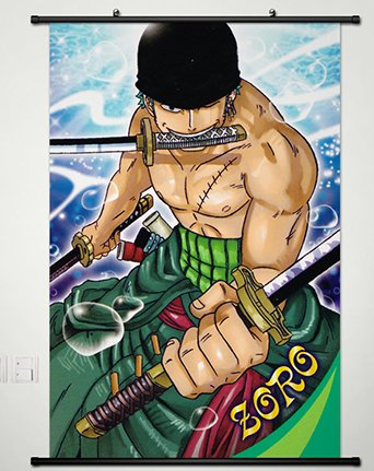 Home Decor One Piece Roronoa Zoro Cosplay Wall Scroll Poster -189