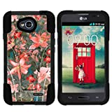 lg l70 phone accessories - LG Optimus L70 Case | LG Ultimate 2 Case | LG Optimus Exceed 2 [Gel Max Cover] Dual Layer Hybrid Case Design Hard Shell Kickstand by TurtleArmor - Captivating Pink Floral