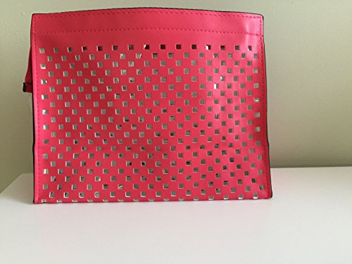 nordstrom-red-vinyl-perforated-cosmetic-bag