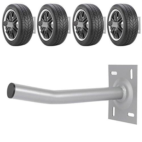 Utheing 4Pcs Wall Mount Tire Rack Storage Set Space Saving Wheel Storage Rack for Garage Shed