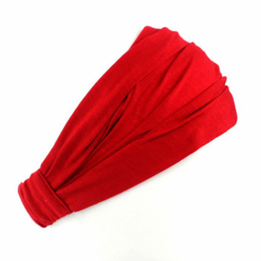 FURU Bandeaux Torsadés Accessoires Pour Cheveux Mignons Hair Band Bandeau Serre-tête En Coton Pour Dame à La Mode Avec écharpe Tête Couleur Unie 3 En 1