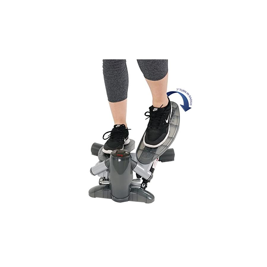 Sunny Health & Fitness S0636 Twist in Stepper Step Machine w/ LCD Monitor