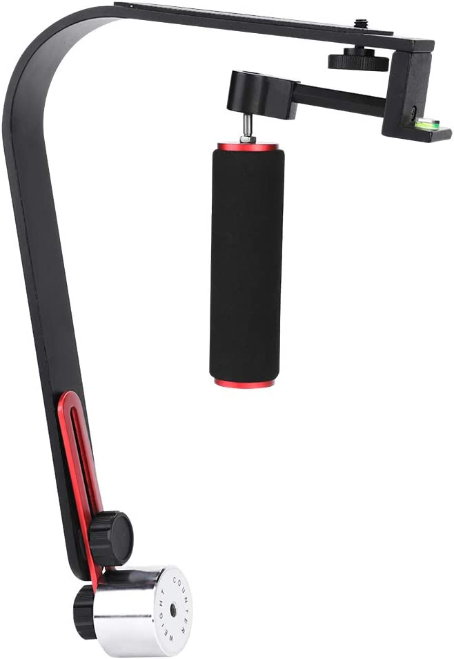 for Go-pro Camera Smartphones Aluminum Alloy Stabilizer Holder,Handheld Camera Stabilizer,with Phone Clip