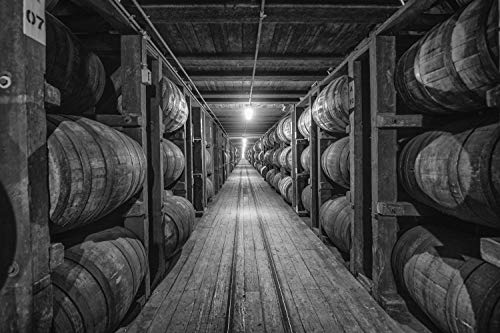 Fine Art Print of Old Taylor (Castle and Key) Distillery Barrel House - Various Size Unframed and Canvas Wall Art for Home, Bar or Pub - Bourbon and Whiskey Gifts (Taylor Distillery Old)