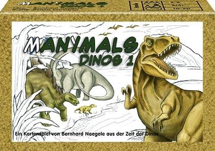 Amazoncom Adlung Spiele Adl71031 Manimals Dino 1 Card Game Toys