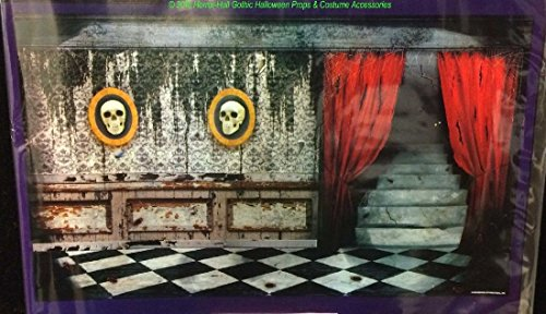 Scary Gothic Mansion ABANDONED HAUNTED HOUSE MURAL Garage Door Poster -