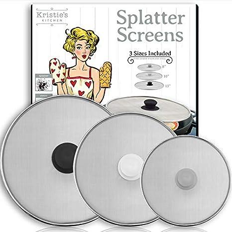Home Holic Splatter Screen Stainless Steel Frying Pan Cover Splatter Guard Stainless Steel Grease Guard Shield Extra Fine Mesh Weave Splatter Screen 29cm