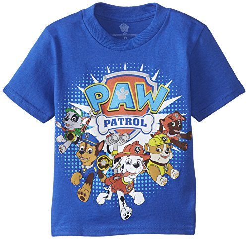 PAW Patrol Boys' Toddler' Group Short Sleeve T-Shirt, Royal, 2T