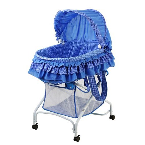 Dream On Me Layla 2 in 1 Bassinet to Cradle, Blue (2 N 1 Bassinet Cradle)