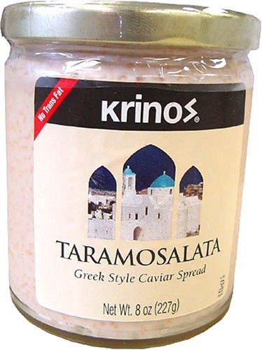 Krinos Taramosalata Greek Style Caviar Spread 8 Oz Jar