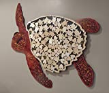 Sea Turtle Alternative Wedding Guest Book Wood Shadow Box with Multi-sized Signing Charms