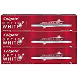 Colgate Optic White Whitening Toothpaste, Sparkling Mint - 5.0 ounce (3 Pack)