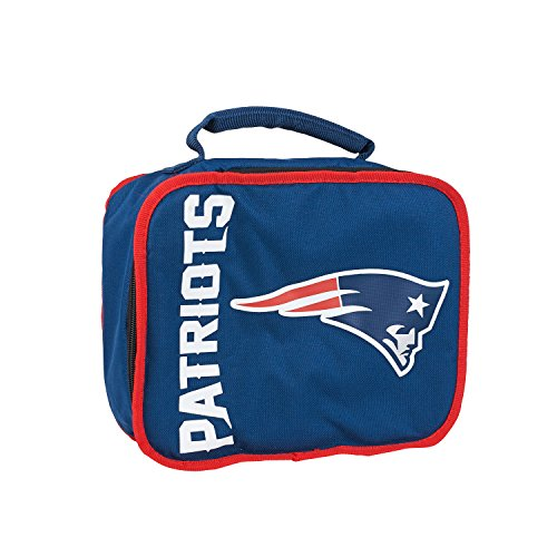NFL New England Patriots Sacked Lunchbox, 10.5-Inch, (New England Patriots Lunch Box)