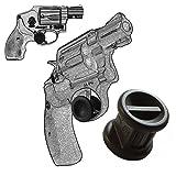 """2 Pack Smith & Wesson Revolver """"J Frame"""" All Caliber Adjustable Quick Release Trigger Stop, Garrison Grip, Black, 16mm"""