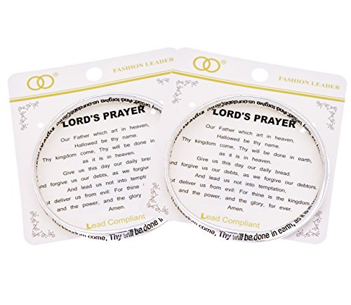 Lord's Prayer Etched Inspirational Mobius Bangle Bracelet Our Father in Heaven (Prayer Bread Bracelet compare prices)