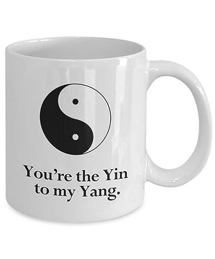 Amazon.com: Yin Yang Mug, You\'re The Yin To My Yang, Funny ...