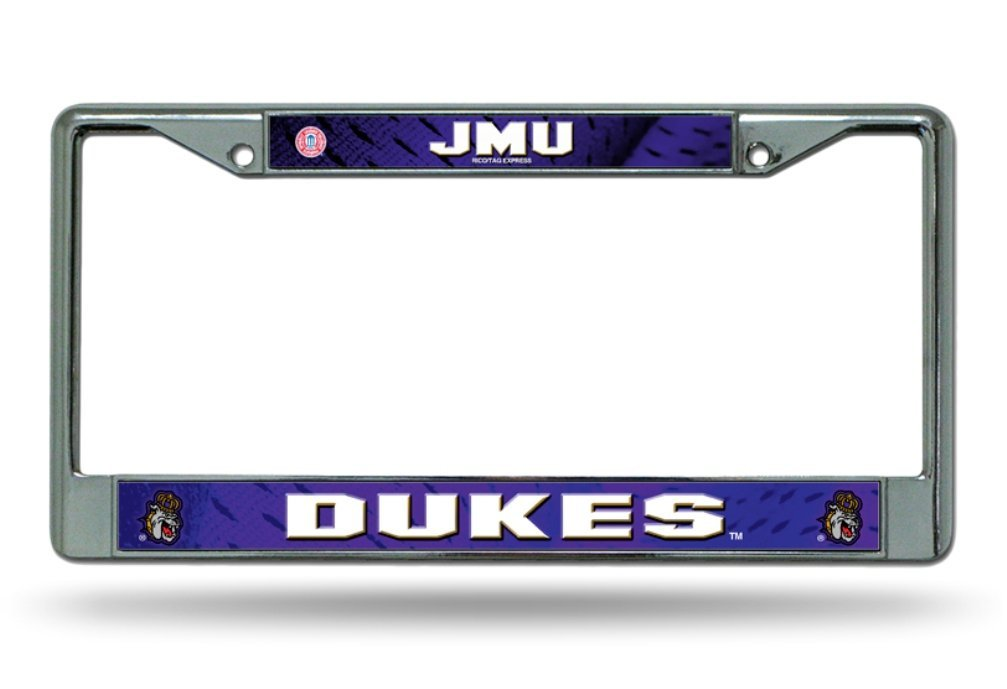 Rico Industries NCAA James Madison Dukes Standard Chrome License Plate Frame Inc FC340402