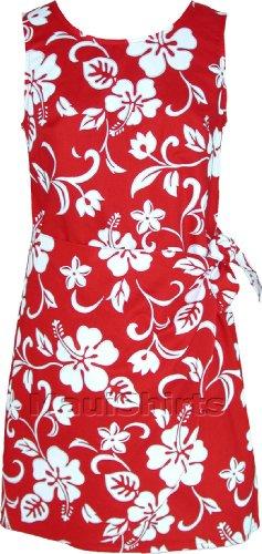 RJC Women's Classic Hibiscus Hawaiian Mock Wrap