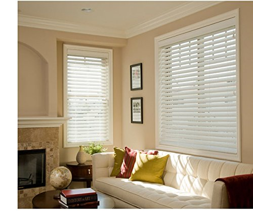 Custom Made 2 1/2 Inch Faux Wood Blinds with Smart Privacy - Inside Mount by Norman by Norman