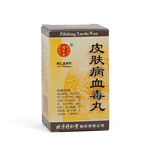 Tong Ren Tang - Pifubing Xuedu Wan, favorise la santé de la peau et aide à l'acné, 200 comprimés