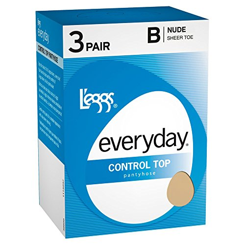 Everyday Pantyhose (L'eggs Everyday Control Top ST 3 Pair_Suntan_B)