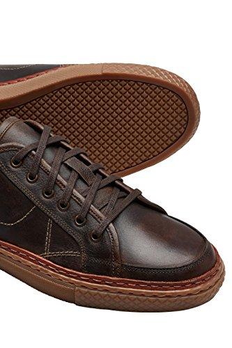 next Hombre Zapatos Zapatillas De Piel Cuero Cierre De Cordones Estilo Deportivo Marrón