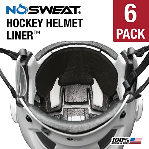 No Sweat Hockey Helmet Liner & Sweat Absorber (Players/Officials) (6 Pack) -