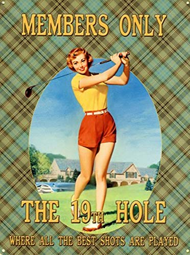 - Killy The 19th Hole Funny Retro Wall Sign Vintage Plaque Iron Painting Creativity Poster Metal Art Sheet for Bar Cafe Garage Home