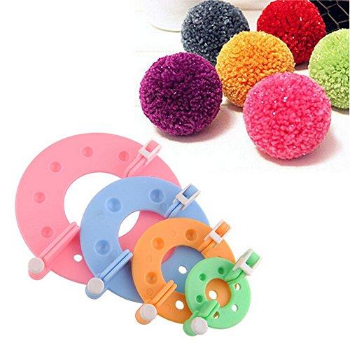 Knitting Loom Pom Pom Maker : Dometool pompom maker for fluff ball diy weaver needle