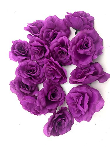 Ifavor123 Bulk 96pcs Pack of Artificial Flowers Roses for DIY Wedding Quinceañera Formal Event Bouquets Centerpieces Party Table Decorations (Purple) -
