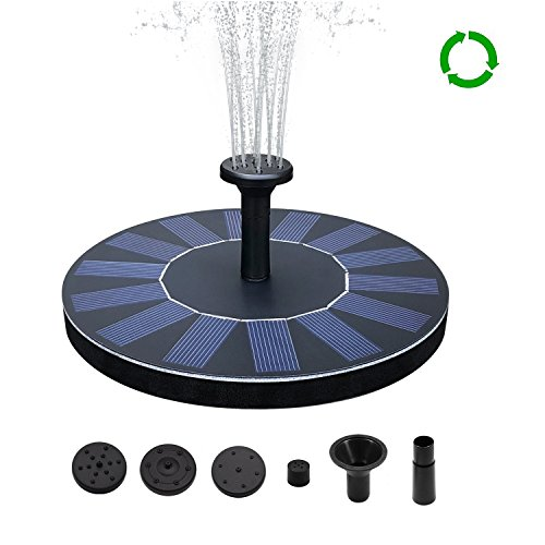 SENLUO Solar Fountain,Solar Powered Bird Bath Fountain Pump 1.4W Solar Panel Kit Water Pump,Outdoor Watering Submersible Pump for Fish Tank,Garden,Pool,Pond,Aquarium